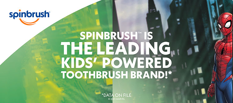 Now with longer AA battery life! Lasts nearly twice as long as former Kid's Spinbrush Toothbrush